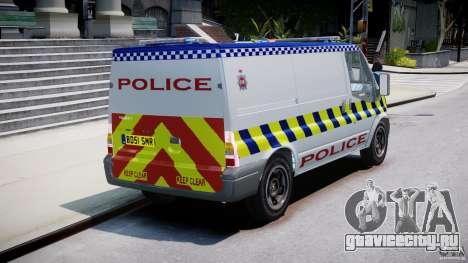 Ford Transit Polish Police [ELS] для GTA 4 вид изнутри