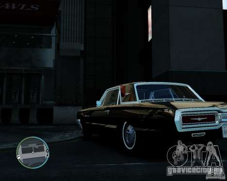 Ford ThunderBird 1964 для GTA 4 вид справа