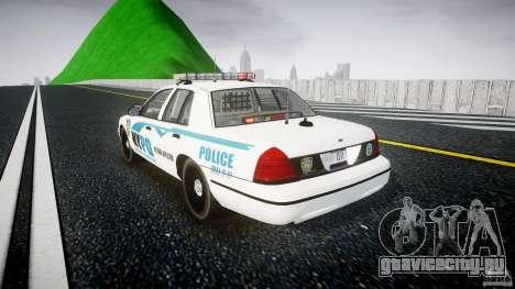 Ford Crown Victoria v2 NYPD [ELS] для GTA 4 вид сзади слева