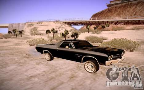 Chevrolet El Camino SS 1970 для GTA San Andreas вид сзади слева