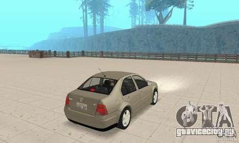 Volkswagen Bora Stock для GTA San Andreas вид слева