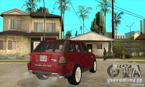 Land Rover Range Rover Sport HSE для GTA San Andreas вид справа