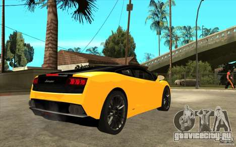 Lamborghini Gallardo LP560 Bicolore для GTA San Andreas вид справа