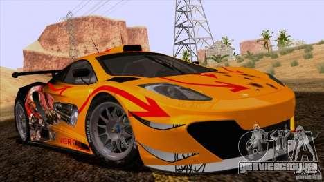 Покрасочные работы McLaren MP4-12C Speedhunters для GTA San Andreas вид справа