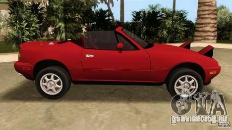 Mazda MX-5 для GTA Vice City вид слева
