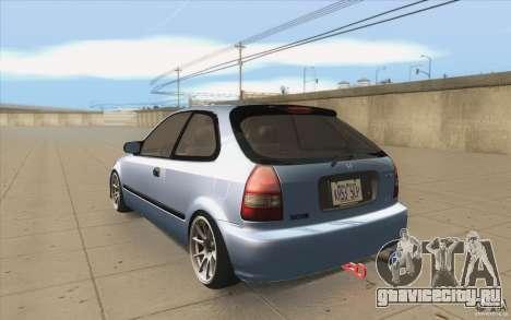Honda Civic EK9 JDM v1.0 для GTA San Andreas вид сзади слева