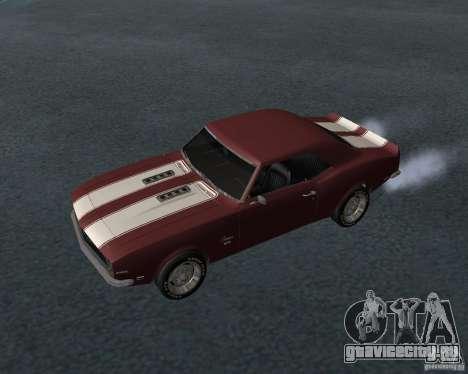 Chevrolet Camaro SS для GTA San Andreas вид снизу