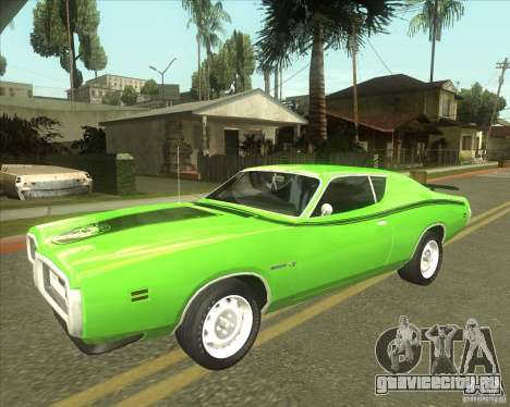1971 Dodge Charger Super Bee для GTA San Andreas вид сзади
