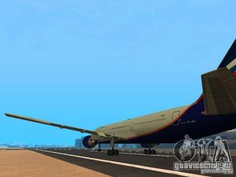 Boeing 767-300 Aeroflot для GTA San Andreas вид сзади слева