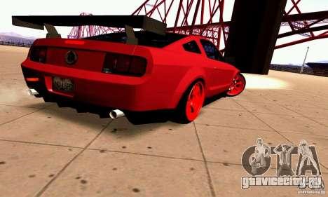 Shelby GT500 KR для GTA San Andreas вид справа