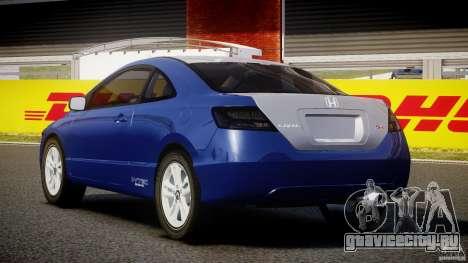 Honda Civic Si Coupe 2006 v1.0 для GTA 4 вид сзади слева
