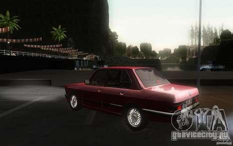 BMW E28 525e ShadowLine Stock для GTA San Andreas вид сзади слева