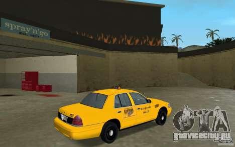 Ford Crown Victoria Taxi для GTA Vice City вид справа