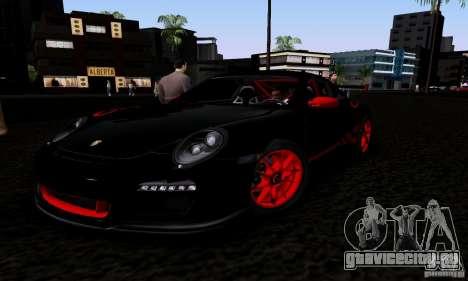 Porsche 911 GT3 RS для GTA San Andreas вид изнутри