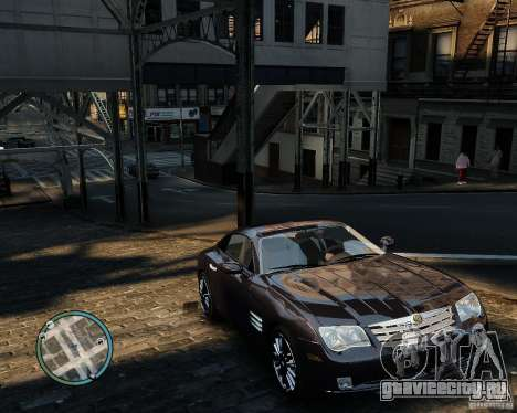 2007 Chrysler Crossfire для GTA 4 вид изнутри