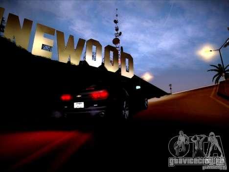 Chevrolet Camaro SS для GTA San Andreas вид изнутри