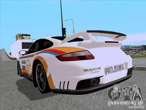 Porsche 997 GT2 Fullmode для GTA San Andreas вид сзади слева