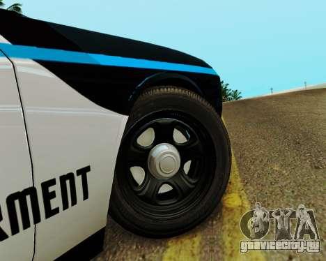 Dodge Challenger SRT8 2010 Police для GTA San Andreas вид сзади