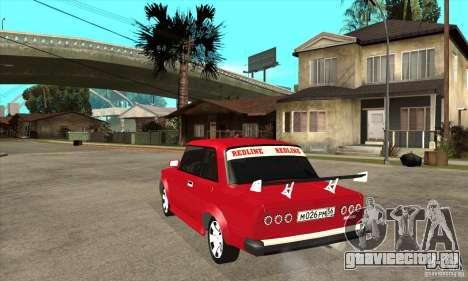 ВАЗ 2101 2-ух дверное купе для GTA San Andreas вид сзади слева