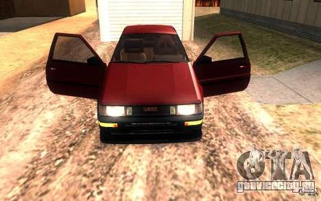 Toyota Corolla Levin GTV 3-door (AE86) для GTA San Andreas вид сбоку