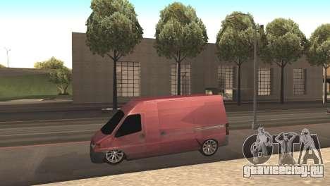 Peugeot Boxer для GTA San Andreas вид слева