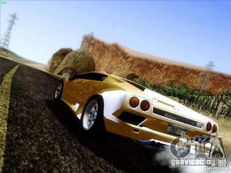 Lamborghini Diablo VT 1995 V3.0 для GTA San Andreas вид сзади слева