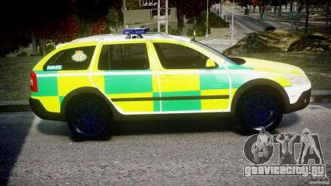 Skoda Octavia Scout Paramedic [ELS] для GTA 4 вид сзади