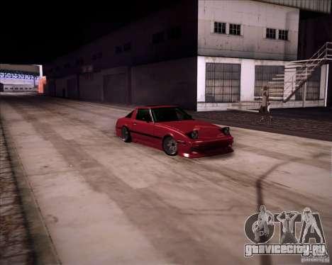 Mazda RX7 FBS3 для GTA San Andreas вид сзади слева