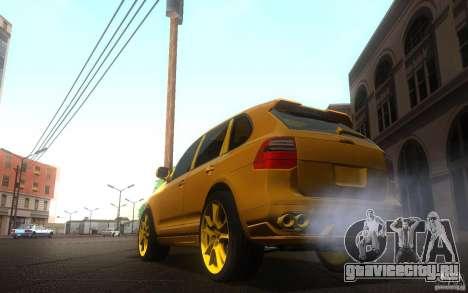 Porsche Cayenne gold для GTA San Andreas вид слева