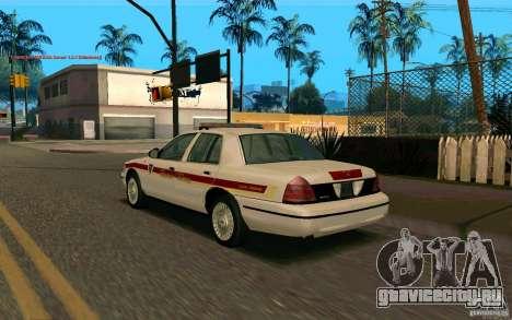 Ford Crown Victoria South Dakota Police для GTA San Andreas вид слева