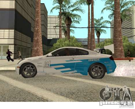Infiniti G35 Coupe для GTA San Andreas вид сзади