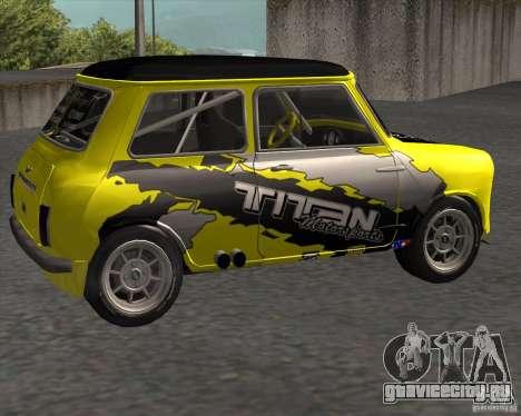 Mini Cooper S Titan Motorsports для GTA San Andreas вид слева