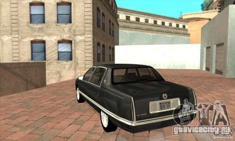 Cadillac Deville v2.0 1994 для GTA San Andreas вид сзади слева