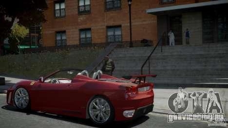 Ferrari F430 Spider для GTA 4 вид слева