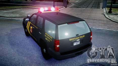 Chevrolet Tahoe Indonesia Police для GTA 4 вид сзади