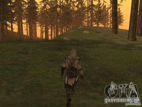 Connor From ACIII для GTA San Andreas четвёртый скриншот