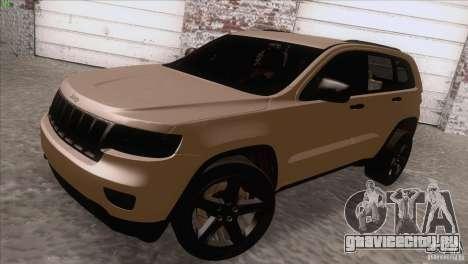 Jeep Grand Cherokee 2012 для GTA San Andreas вид сзади слева
