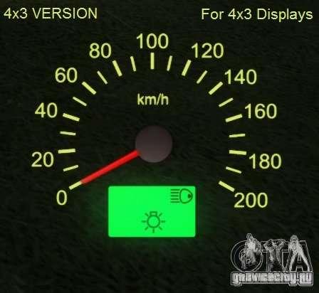 Спидометр от Lada 2110 для GTA San Andreas