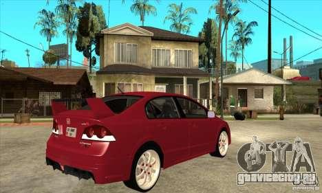 Honda Civic Mugen RR для GTA San Andreas вид справа