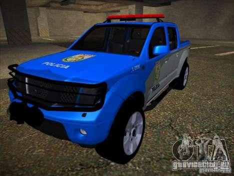Nissan Frontier PMERJ для GTA San Andreas вид изнутри