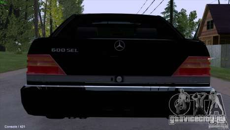 Mercedes-Benz 600SEL для GTA San Andreas вид сзади слева