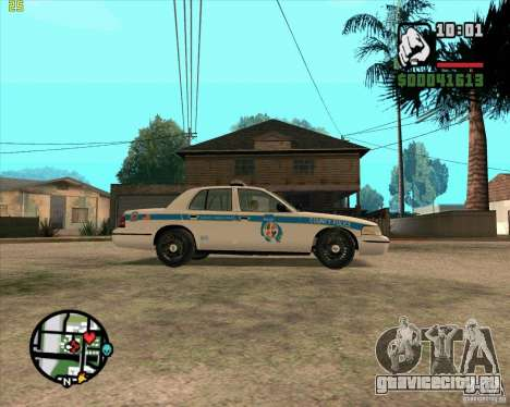 Ford Crown Victoria Baltmore County Police для GTA San Andreas вид сзади слева