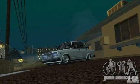 ВАЗ 2107 Аквариум для GTA San Andreas вид справа