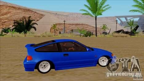 Honda CRX Hella Flush для GTA San Andreas вид сзади