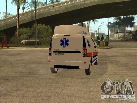 Dacia Logan Ambulanta для GTA San Andreas вид справа