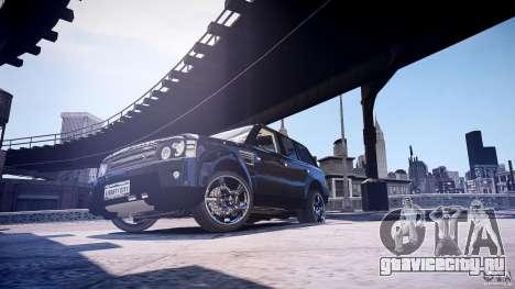 Range Rover Sport для GTA 4 вид сзади слева