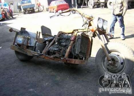Harley Davidson Home-Made для GTA 4 вид справа