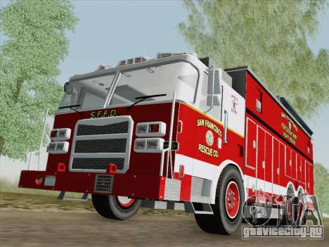 Pierce Walk-in SFFD Heavy Rescue для GTA San Andreas вид слева