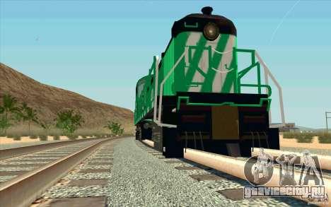 BURINGTON NORTHERN RS3 для GTA San Andreas вид сзади