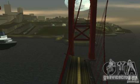 Разрушенный мост в San Fierro для GTA San Andreas четвёртый скриншот